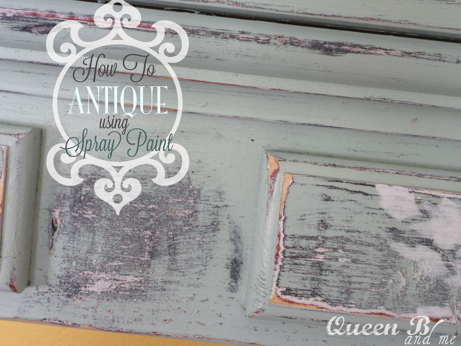 how to antique using spray paint