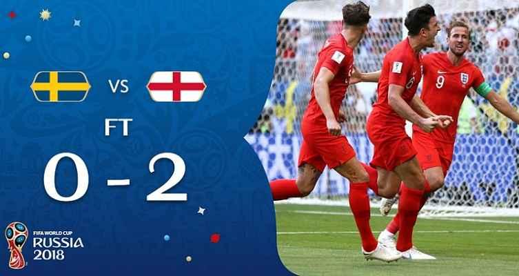 Hasil Swedia vs Inggris Skor Akhir 0-2 | Perempat Final World Cup 2018