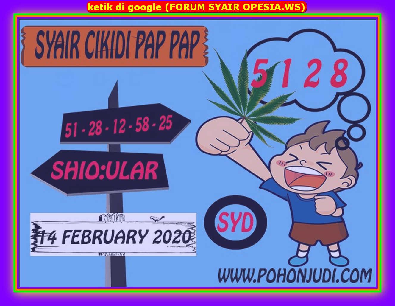 Kode syair Sydney Jumat 14 Februari 2020 102