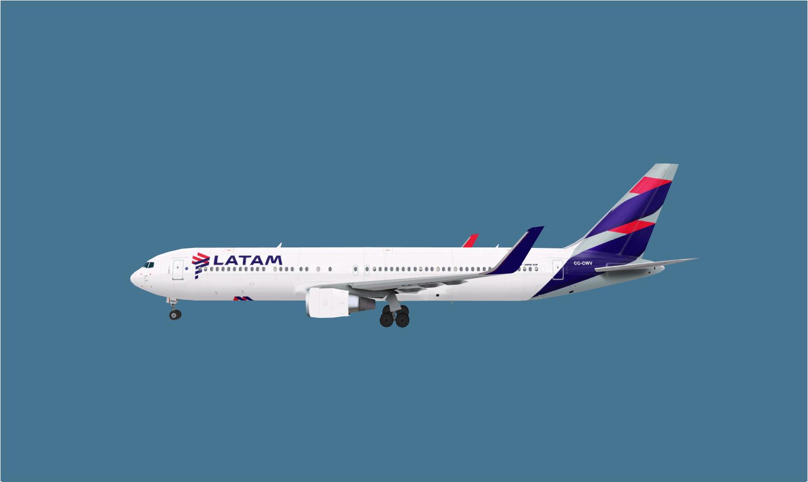 FSRepainter: TRAFFIC AI AI Aardvark 767-300ERW LATAM Chile ...