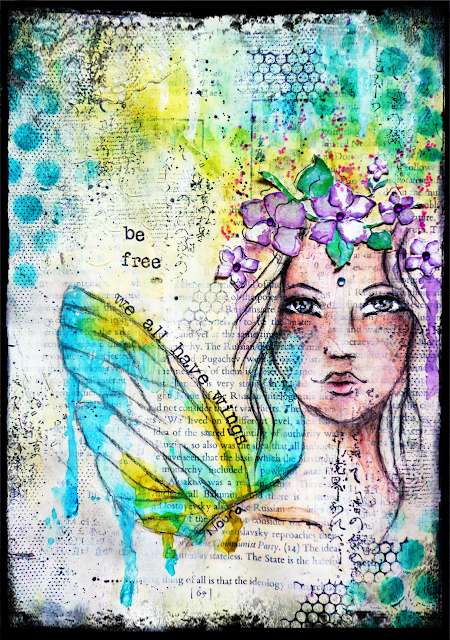 "Journal page ""Bee free"""