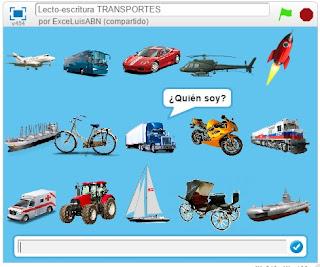 Lecto - escritura Transportes.