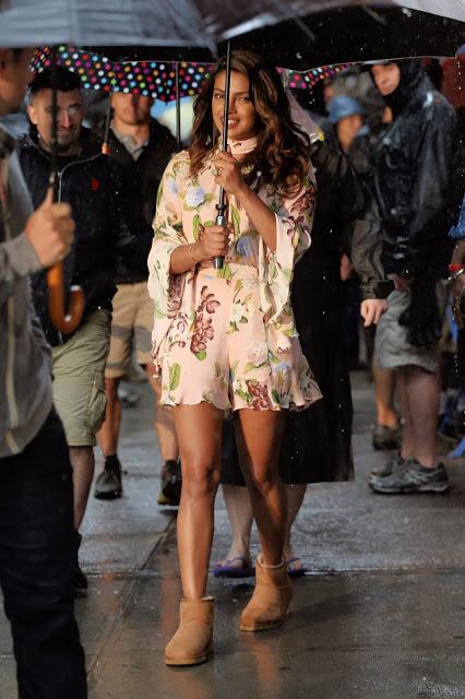 Priyanka Chopra On Sets of Isn't It Romantic Hollywood Movie Photos