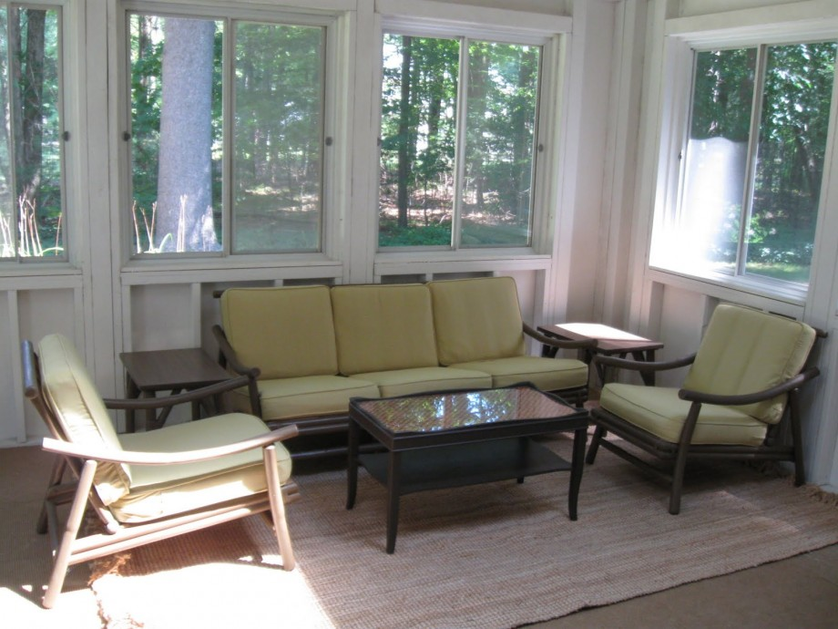 rustic indoor sun room furniture ideas | Interesting Sunroom Furniture Layout for Awesome Home Inside