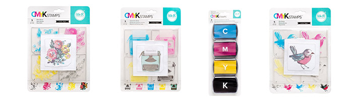 CMYK Stamps & Inks by WRMK