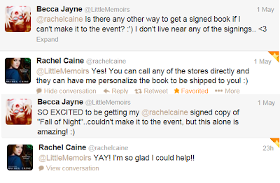 Why I Love Twitter { I'm getting a Signed Rachel Caine book?!}