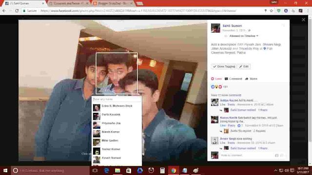facebook photo tag