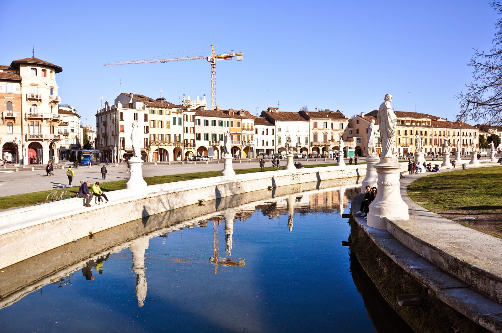 View of Prato della Valle - the biggest square in Italy is in Padua