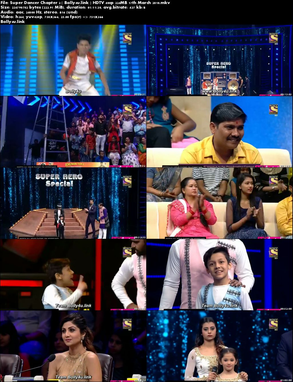 Super Dancer Chapter 2 HDTV 480p 200MB 17 March 2018 Download