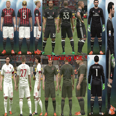 f8a8e32a53a PES 2016 AC Milan 2016-17 FUll Kit Pack+Training Kits. Password   AymEn  YastRin