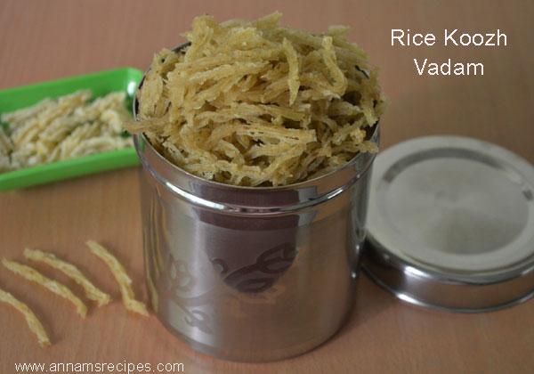 Rice koozh Vadam
