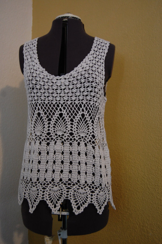 Impromptu Crochet: Crochet Pattern- Pineapple TOP |Thread Crochet Top