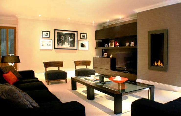 Wall paint color ideas dark furniture