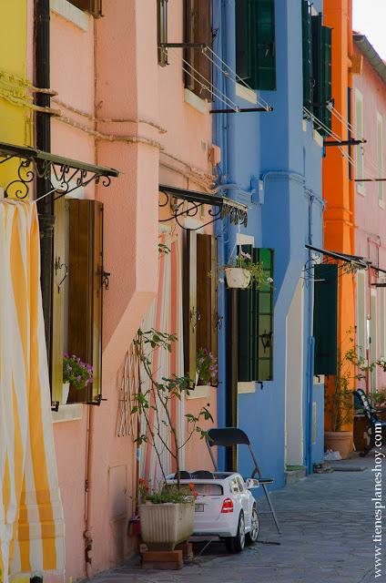 Calles de Burano viaje Italia