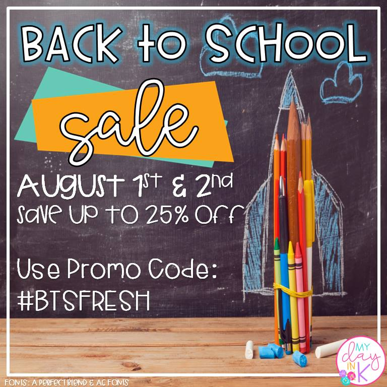 Tpt Back to School Sale. Use code #BTSFRESH!