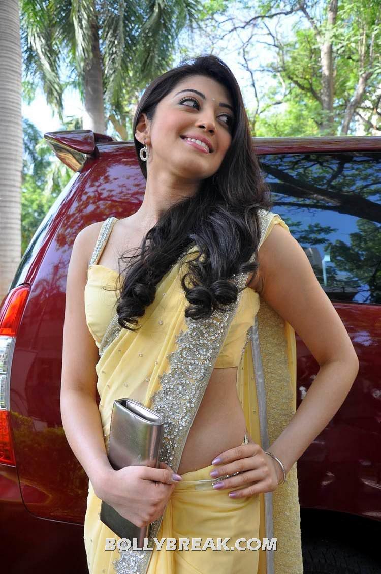 Pranitha Yellow Sari Latest Photoshoot Pics - 13 Pics