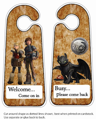 Para poner en la puerta de Cómo entrenar a tu Dragón 2.