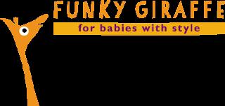 logo de Funky Giraffe le spécialiste en bavoirs et bandanas pour bébés