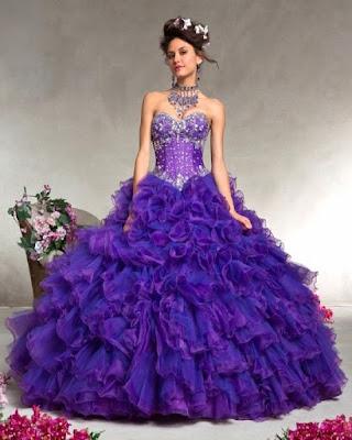 Vestidos de 15 Años Morados 2017