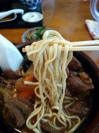 馬汁そばの麺の写真