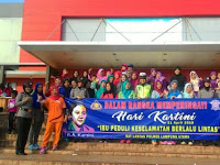 Peringati Hari Kartini, Polwan Polres Lampung Utara Peduli Keselamatan