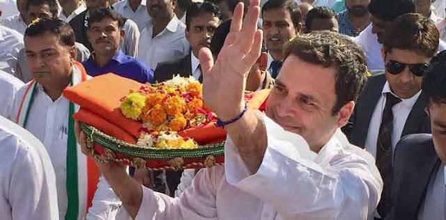 राजस्थान चुनाव - कांग्रेस अध्यक्ष राहुल गाँधी राजस्थान दौरे पर