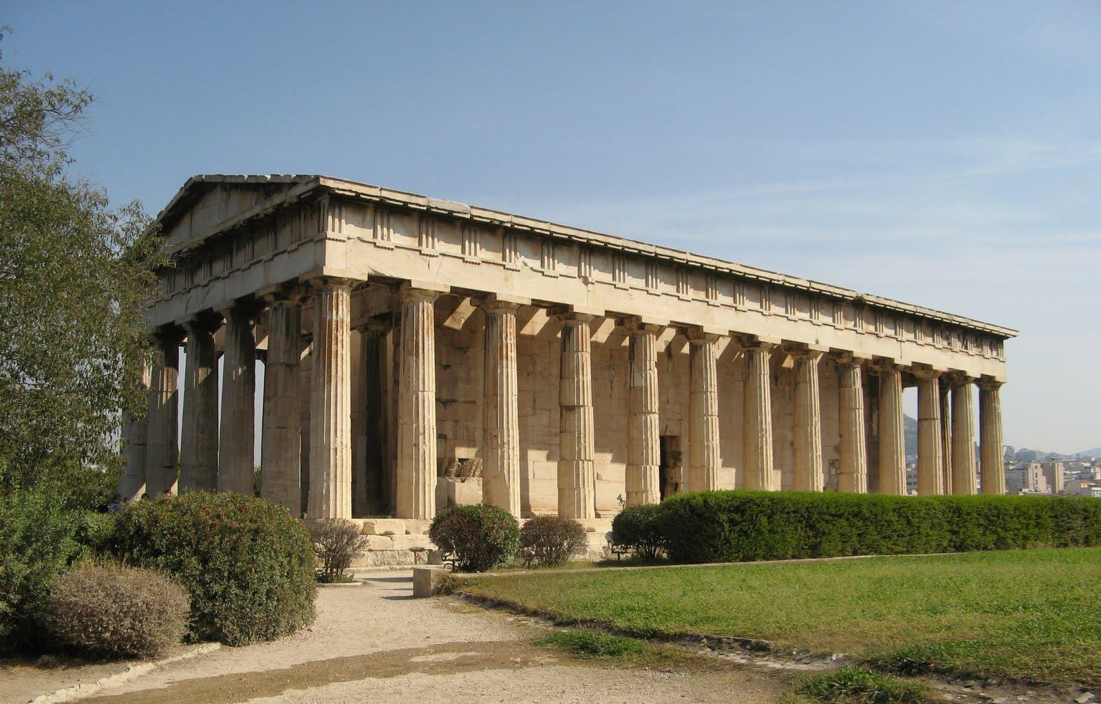 emplo de Hefesto, um templo grego Dórico em Atenas