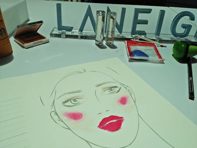 laneige beauty week face chart