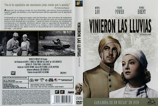 Carátula dvd: Vinieron las lluvias (1939) The Rains Came