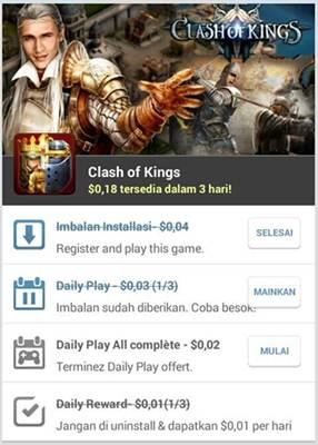 cara mendapatkan uang dari aplikasi android