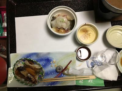 森秋旅館の夕食