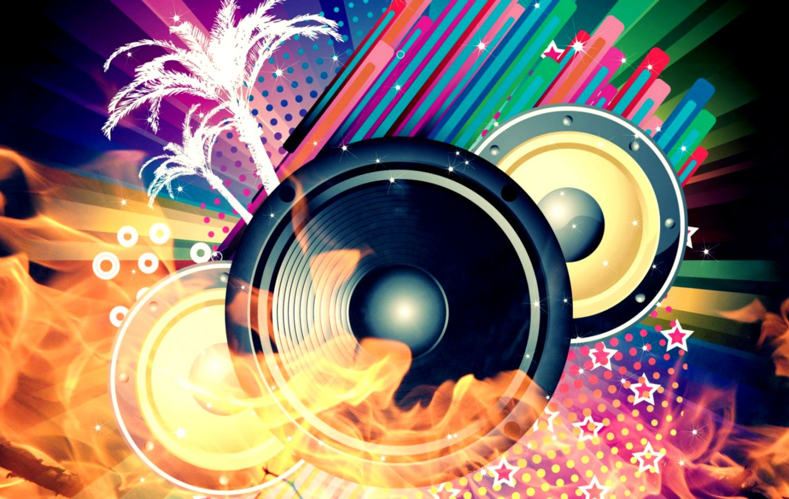 Cool Speaker Abstract Music Wallpaper Desktop HD