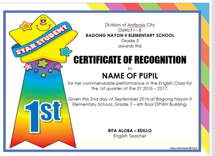 New! Editable Quarterly Awards Certificate Template | Deped