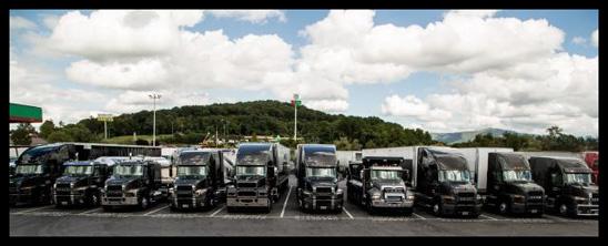 A Convoy of Mack Trucks