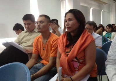 Maria Kristina Sergio (R) and Julius Lacanilao, the recruiters of Mary Jane Veloso