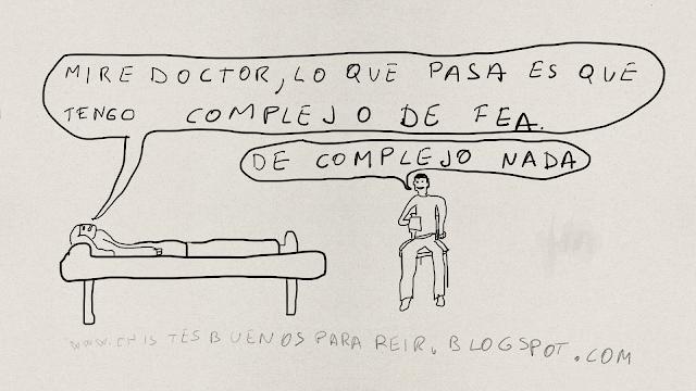 Mire doctor, lo que pasa es que tengo complejo de fea. De complejo nada.