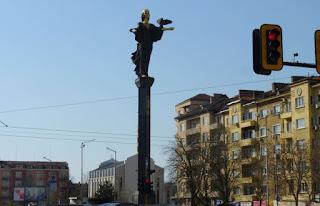 Estatua de la Santa Sabiduría de Sofía.