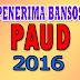 Daftar Penerima Bansos atau BOP PAUD Tahun 2016