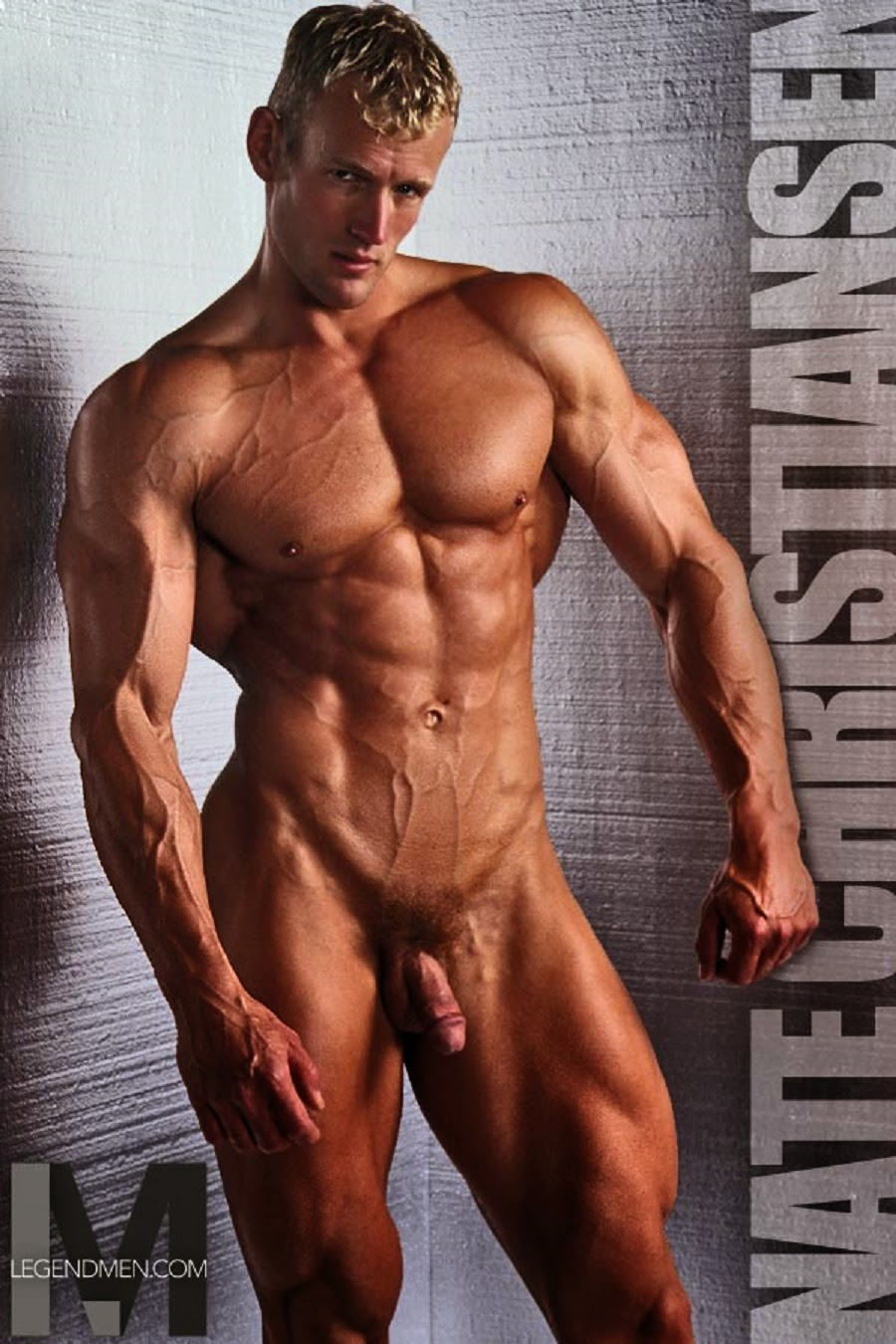 Sportsman Bulge Naked  Male Nude Bodybuilder-7174