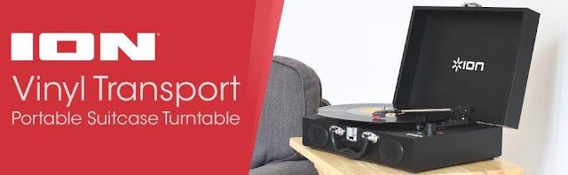 Ion Audio Vinyl Transport VJBL01 Portable Briefcase Style Turntable