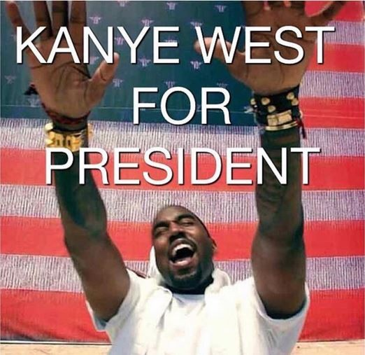 Kanye West announces that he will run for the Presidency of the United States