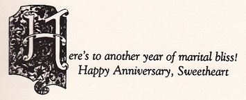 VERSE INSIDE OF ANNIVERSARY CARD