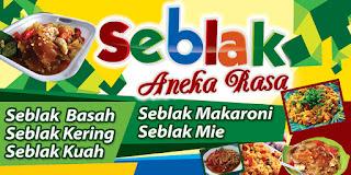 Contoh Banner Jualan Seblak - gambar contoh banners