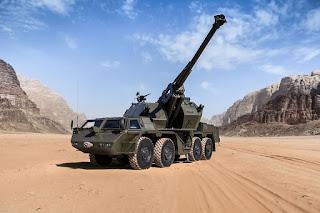 Howitzer Swagerak Dana 8x8 152mm AD Ceko