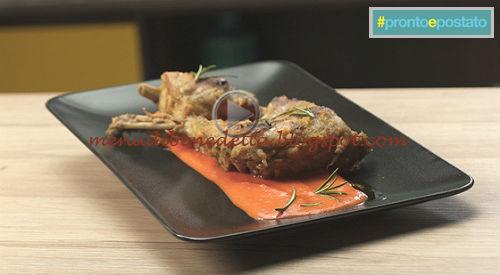 Pronto e postato - Coniglio ai peperoni rivisitato ricetta Benedetta Parodi