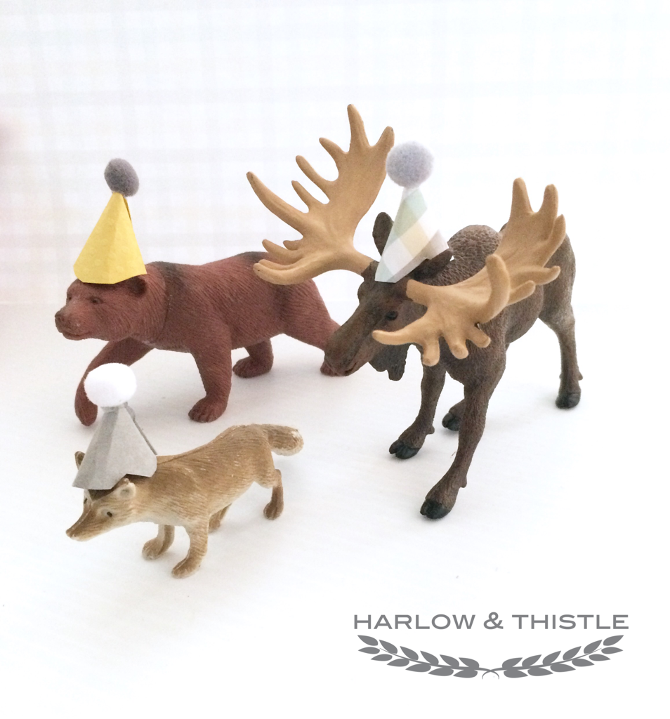 Diy Plastic Animal Party Hats Woodland Themed Party
