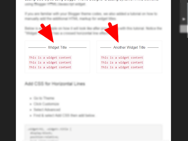Add Horizontal Line Effects for Blogger Widgets Titles - ms.airinaa