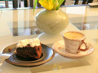 Parve Chocolate Cake and Coffee.