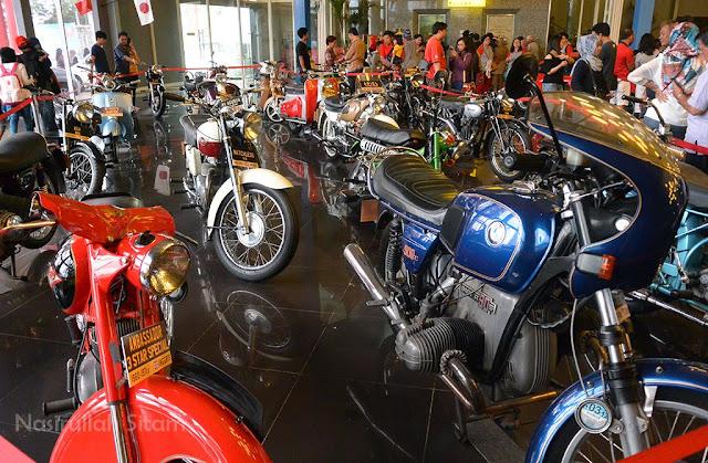 Sebagian koleksi sepeda motor