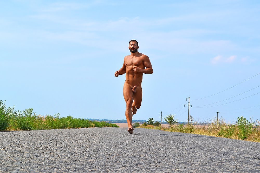 Nude men running vids